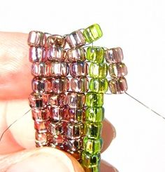 Square Stitch.  The Most Hard-Wearing Beading Technique Of All