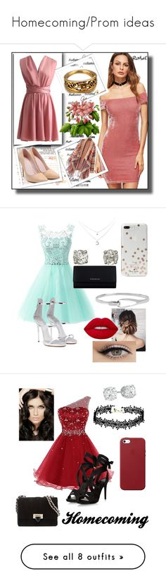 """""""Homecoming/Prom ideas"""" by agent-butterfly731 ❤ liked on Polyvore featuring dresses, multi, petite, v neck prom dress, white dress, petite prom dresses, high low prom dresses, hi low prom dresses, BEA and Giuseppe Zanotti"""