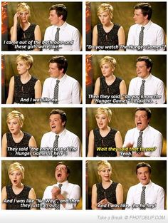 Josh hutcherson and Jennifer Lawrence funny