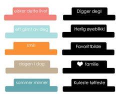 tabs med norske tekster :) Printables, Summer, Print Templates