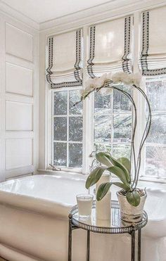Hang A Crisp Roman Shade Thereu0027s Nothing Sadder Than An Old, Dirty Bathroom  Window. Invest In A Tailored Window Covering That Adds Sophistication And A  ...