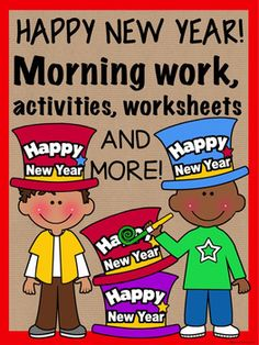 Do you need a New Year activity for your class when they get back from the holiday break? Here are several activities for your students to complete during morning work or as a way to welcome them back to school and back to the New Year.Included in this product:--My Favorite, (last year) worksheet--Find someone Who, ice breaker activity page--Its A New Year (at school, at home), resolution page--How Many Words Can You Make (New Years), worksheet--Scrambled Words worksheet, with KEY--New Year…