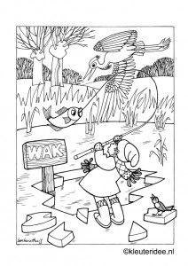 Kleurplaat Thema Winter Kleuteridee Preschool Coloring Free Printable