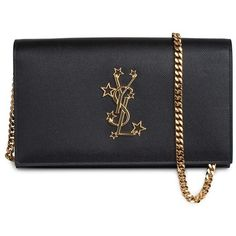Saint Laurent YSL Chain Wallet Mono (€945) ❤ liked on Polyvore featuring  bags 5d1f4f3811a68