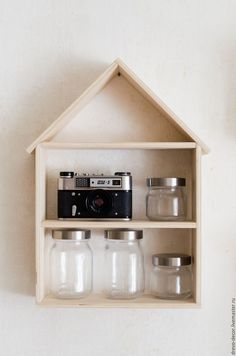 Handmade wooden shelf / Полка для специй - бежевый, белый, полка, полка из дерева, полка для кухни, полка для специй