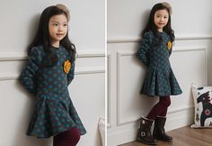 Korea children's No.1 Shopping Mall. EASY & LOVELY STYLE [COOKIE HOUSE] Angle Dot One Piece / Size : 7-15 / Price : 35.36 USD #cute #koreakids #kids #kidsfashion #adorable #COOKIEHOUSE #OOTD #dress #onepiece #dailylook #dailyfahion #casual #dot #lovely