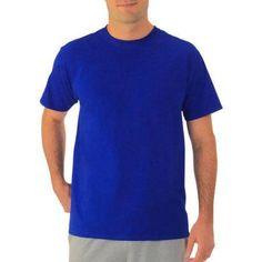 Fruit of the Loom Men's Short-Sleeve T-shirt, Size: Large, Blue