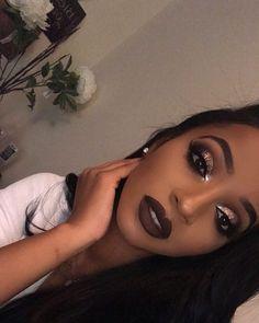 48 trendy makeup ideas morenas style 48 trendige Make-up Id Homecoming Makeup, Prom Makeup, Cute Makeup, Gorgeous Makeup, Sweet 16 Makeup, Elegant Makeup, Formal Makeup, Crazy Makeup, Black Girl Makeup