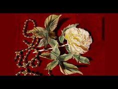 ▶ Роза по японской выкройке. Гильоширование или выжигание по ткани - YouTube