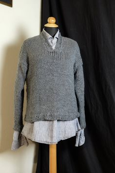 Hand knitted sweater by MrsDarksidesArtWork on Etsy