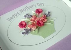 Quilled mother's day card with quilling by PaperDaisyCardDesign, £7.00