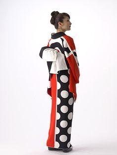 着物 contrast colour kimono