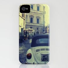 Vintage Rome iPhone Hard Case, Volkswagen Beetle in Rome, Italy, Photography on a Custom Apple iPhone Case. $45.00, via Etsy.