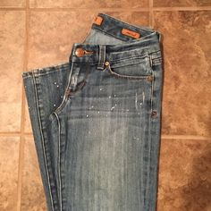 69a545880ab Seven7 Bootcut jeans Seven7 jeans with all over distressed and white paint  splatter details - which