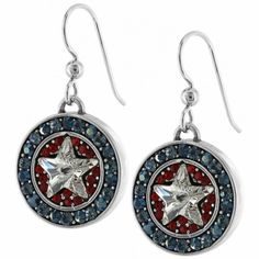 Americana Star French Wire Earrings - Brighton Collectibles - and these too! Brighton Earrings, Brighton Jewelry, Id Bracelets, Star Jewelry, Fourth Of July, Wire Earrings, Bling, Charmed, Jewels