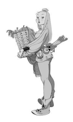 ArtStation - girl with a basket, Carina Morais