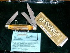 "Schrade Stag Premium Stockman Knife ""New York Knife"" NYK8S W/Packaging Rare @ ditwtexas.webstoreplace.com"