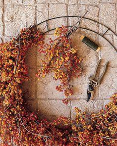 diy bittersweet autumn wreath