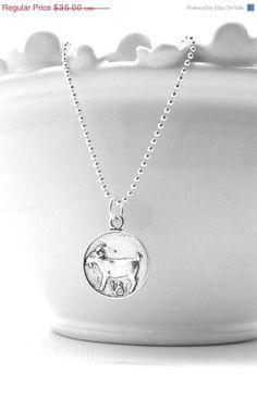 Valentines Day Sale Capricorn Necklace by GirlBurkeStudios on Etsy, $31.50
