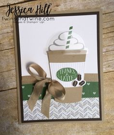 stampin up, coffee cafe, coffee break suite, coffee break dsp, coffee cafe bundle, coffee cups framelits dies, crumb cake, soft sky, whisper white, garden green, early espresso, pear pizzazz, linen thread, bakers twine, online class