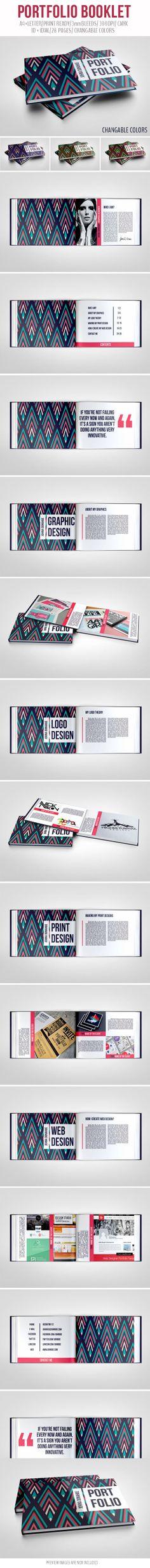 Portfolio Booklet by crew55design, via Behance