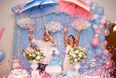 Gender Reveal Balloons, Gender Reveal Party Decorations, Baby Gender Reveal Party, Gender Party, Diy Wedding Decorations, Baby Shower Fall, Baby Shower Parties, Baby Boy Shower, Baby Announcement Photos