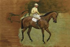 Sir Alfred James Munnings - STUDY FOR GOING OUT AT...