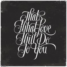 Love, Love, Love (check the article for more great typography art)