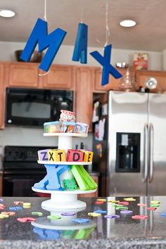 Alphabet-themed birthday party