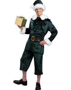 Adult jolly elf costume osfm christmas elf costumes pinterest