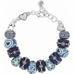 Beautiful collection of Indigo Blue Charm Bracelet from Brighton. Great for summer outfits.