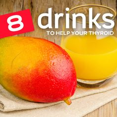 Spur your underactive thyroid into action with these drinks loaded with iodine-rich fruits and vegetables. These can be used in conjunction with other treatments for hypothyroidism or in an attempt to avoid using synthetic hormone medication. Mango Ju N Thyroid Diet, Thyroid Disease, Thyroid Health, Heart Disease, Thyroid Issues, Thyroid Gland, Thyroid Cancer, Mental Health, Home Remedies