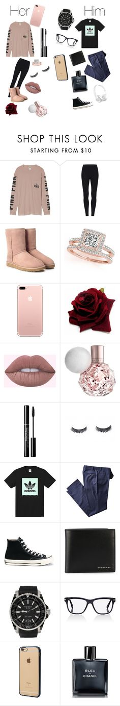"""Untitled #84"" by oliviavalente ❤ liked on Polyvore featuring Victoria's Secret, UGG, Allurez, adidas, Converse, Burberry, Gucci, Tom Ford, Incase and Chanel"