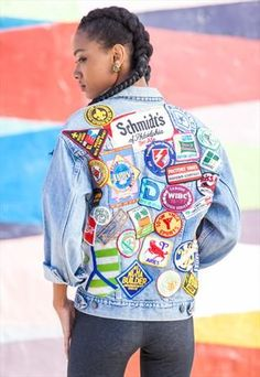 Denim jean jacket, patches, and black girl magic being served to you. Enjoy.