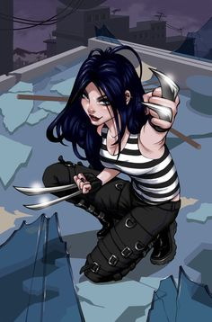 X-23 covers and pin-ups by Danni Shinya Luo. #comics #art