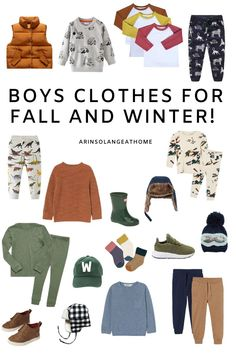 Here are some great clothing ideas for little boys for fall and winter! Dress your toddler in these clothes which are prefect for cooler weather. Hats, socks, shoes, sweaters, and more!