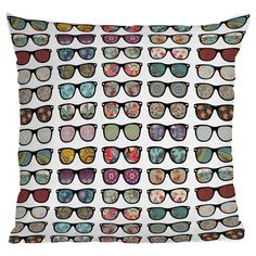 Cool Sunglasses Pillow - Bianca Green The Way I See It Throw Pillow