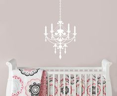 Chandelier Wall Decal  Living Room Wall Decal  by justforyoudecals, $35.00
