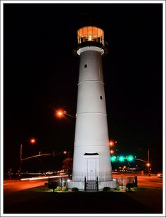 ♜ Biloxi Lighthouse, Biloxi, Mississippi, USA Erected in 1848 Biloxi Lighthouse, Candle On The Water, Places Ive Been, Places To Go, Ocean Springs, Beacon Of Light, Southern Style, That Way, Biloxi Blues