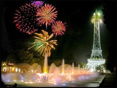 The Eiffel Tower  (at Kings Island, Cincinnati...I can only wish to see the real one)