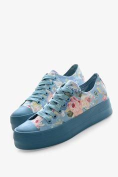 Floral Blue Sneakers