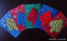 Joulun kortteja Knitting, Crochet, Christmas, Crochet Hooks, Yule, Xmas, Tricot, Breien, Crocheting
