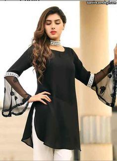 Pakistani Fashion Casual, Pakistani Dresses Casual, Indian Gowns Dresses, Pakistani Dress Design, Pakistani Bridal, Indian Outfits, Kurti Sleeves Design, Sleeves Designs For Dresses, Stylish Dresses