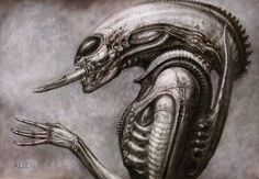 HR Giger's Alien project. #biomechanoid #xenomorph #alien #hrgiger #giger