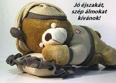 jó éjsz Kids And Parenting, Good Night, Teddy Bear, Humor, Toys, Funny, Animals, Figurative, Nighty Night