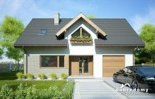 Telimena II 1G - Dobre Domy Flak & Abramowicz House Design Pictures, House Construction Plan, Bungalow, Facade, Shed, Outdoor Structures, Cabin, House Styles, Outdoor Decor