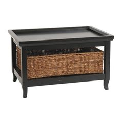 Ballard Designs Morgan Small Cocktail Table with Basket (multiple finishes)