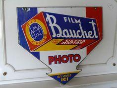 Plaque émaillée pour la promo des pellicules Bauchet. #photographie #photography #publicité #ad