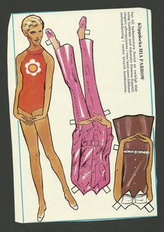 Swedish paper doll of Mia Farrow, a closer view. / eBay