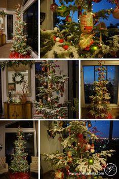 Decoracion Vintage para Navidad Noble Fir Natural Nuestro árbol de Navidad 2017